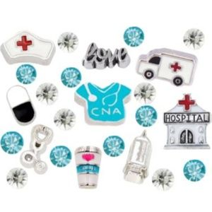 Jewelry - ‼️2 for $16 CNA Nurse Floating Charms 23pcs